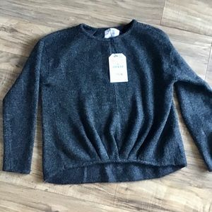 Zara girls knit dark gray sweater